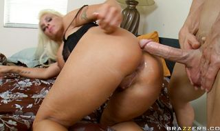 Racy mature Holly Halston takes it all in her pussy