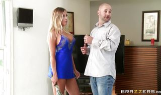 Admirable blonde mature Samantha Saint has her juicy honey pot plowed from behind