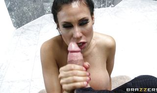 Divine latin hottie Sheila Marie takes pleasure stroking hard dinky