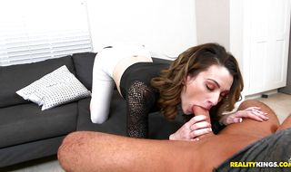 Topnotch honey Jordyn Eve joyfully rides a stiff fuck stick