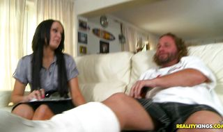 Slutty mature Bobbi Brixton receives a firm plowing