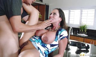 Magical busty mature brunette cutie Ariella Ferrera gets roughly dicked from behind