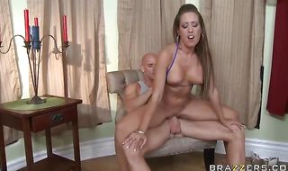 Topnotch mature diva Capri Cavanni puts a huge sausage in her juicy mouth