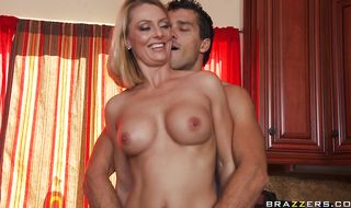Filthy blonde Brenda James wants to be smashed hard and fast