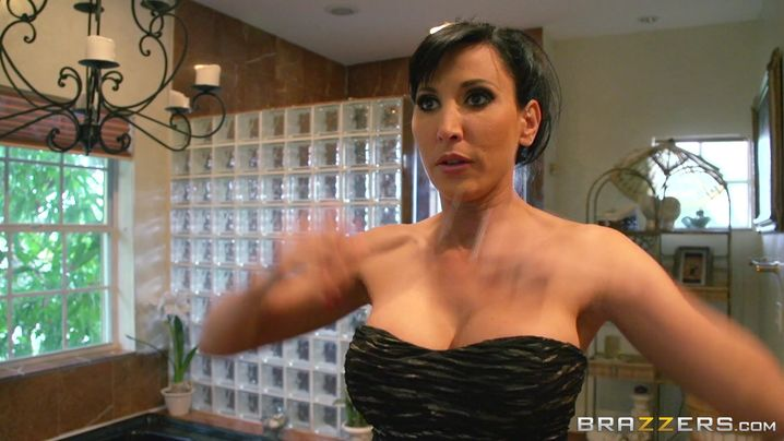 Stunning mature Lezley Zen with big tits got fucked in the bum for the first time ever and liked it a lot