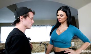 Goluptious brunette mature sweetie Jasmine Jae loves to have her skinny vagina banged from behind