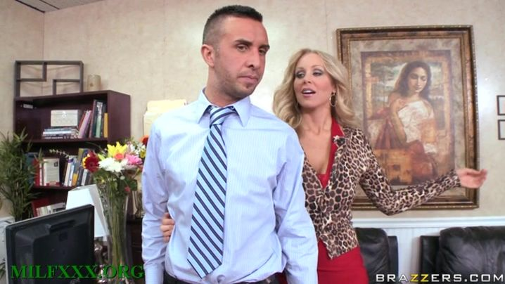 Glamor blonde Julia Ann is taking lad