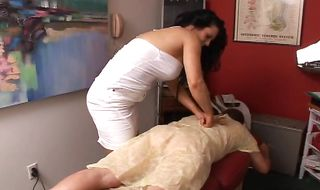 Delightful latin mature hottie Elle Cee likes her job a lot because she gets fucked way more than doing it