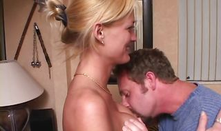 Gorgeous mature Ronnie is violently impaled on a big dick