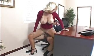 Dirty mature blonde girlie Charlee Chase gladly gives an blowjob
