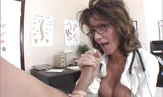 Lustful brunette mature Deauxma gets fucked hard in different positions