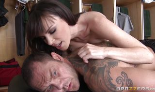 Hot-tempered brunette housewife Dana DeArmond is fucking her stranger and enjoying every single second of it