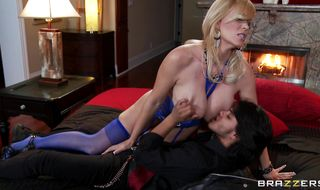 Sensual mature Charlee Chase has a wet poon tang and she receives a packing monster