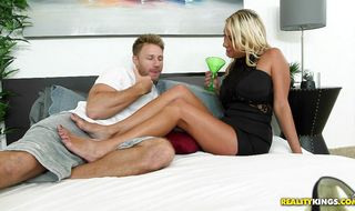 Sexual Becki Crewz enjoys having her tight snatch drilled by lad