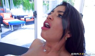Sexual Veronica Rodriguez got gangbanged for the first time ever and enjoyed every second of it