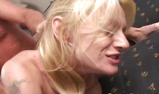 Beguiling blonde Mandy gets nailed by juicy big hard slim jim