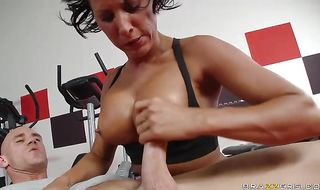 Classy mature woman Lezley Zen getting her shaven cunny plowed real deep