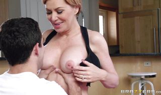 Savory blonde cutie Sasha Sean gets her wet copher pounded for all she's worth