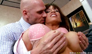 Ambitious busty mature brunette Devon Michaels and her talented buddy have some fun
