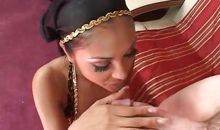 Mischievous busty brunette mature Priya Anjali Rai takes a tasty big phallus from behind