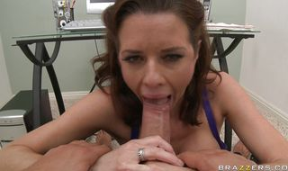 Ravishing mature Veronica Avluv getting her wet putz rocked the raw way
