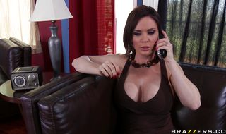 Magical brunette chick Diamond Foxxx jumps on male's lovestick