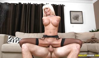 Marvelous mature Kasey Storm is eager to be doggy styled by a hunk