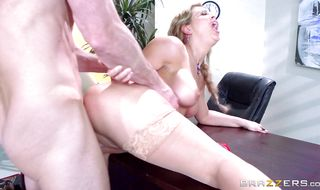 Naked mature Cherie Deville is eager to blow meat bazooka
