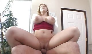 Magnificent mature Sara Jay came home from work to man who was eager to fuck her