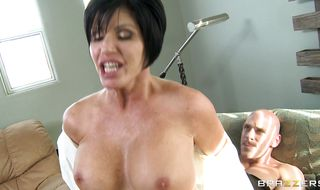 Slender busty woman Shay Fox has a tight body and enjoys a rough plowing