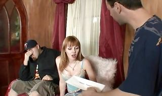 Elegant brunette mature Brandi Edwards is eagerly sucking pussy tester's pecker and eating loads of cum
