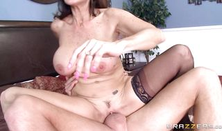 Topnotch mature Tara Holiday with big tits getting her cunt plowed