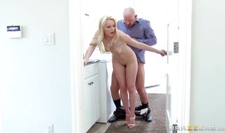 Slender mature Staci Carr enjoys deep fanny bang