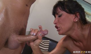 Startling Lezley Zen is smoking hot who likes to suck a slim jim until it explodes