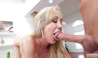 Inviting mature Brandi Love with huge tits rides a hard cock so perfectly