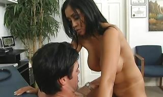 Sexual busty mom Priya Anjali Rai is getting fucked from the back while dude is out of town