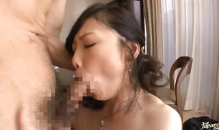 Magnificent mature Maya Sawamura begs for fuck