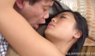 Magnificent cutie Uta Kohaku moans while being passionately spooned