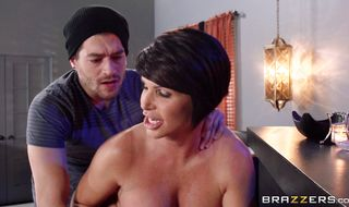 Angelic mature girlfriend Shay Fox has perky tits and a box that needs licking