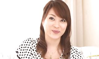 Girl Akari Hoshino with curvy tits using bf's meat rocket