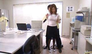 Exquisite mature Chihiro Akino asked man to gently fuck her small mouth until she cums