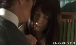 Lusty mature Miku Sunohara loves being doggy styled by man