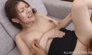 Mischievous mature minx Kiriko Kasumi getting her soaking wet nana fucked dearly with passion