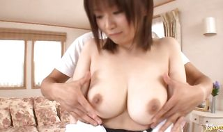 Slender mature gal Hana Nonoka fuck her fellow is what love is about
