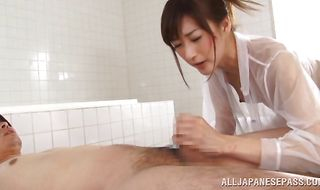 Tempting diva Ichika Kanhata with curvy tits moans loudly while being roughly plowed from behind