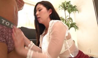 Gorgeous Risa Shimizu likes to get fucked hard from the back as well as to ride love stick