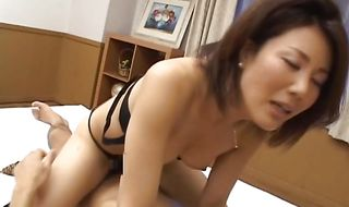 Sex appeal mature girlie Mio Fujiki has a lover who loves to fuck her
