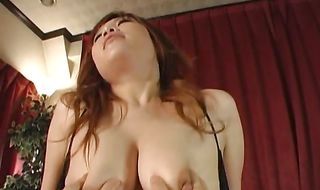 Succulent mature girl Waka Satoh gets amazed by big meat