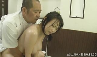 Alluring busty cougar Akane Yoshinaga getting her cunt plowed
