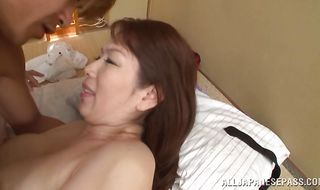 Swingeing mom Chisato Shohda likes to get fucked from the back got it